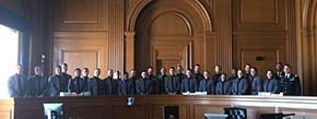 Cadets in LW310 Introduction to Legal Method visited courts in New York City