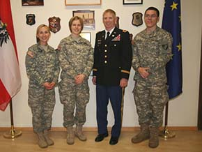 Academy Professor of German and French meets with Cadets