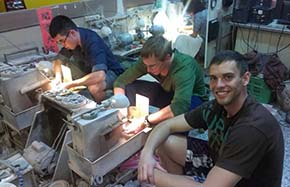 Cadets Juliano Bunjor and Hyde working to produce Jade products