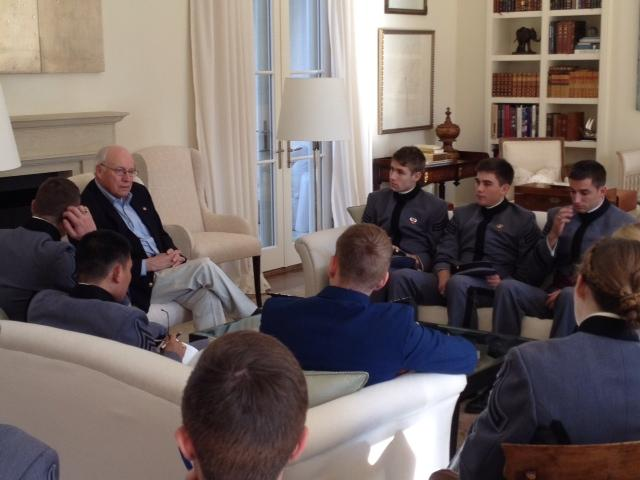 SS373 Cadets visit with Vice President Dick Cheney