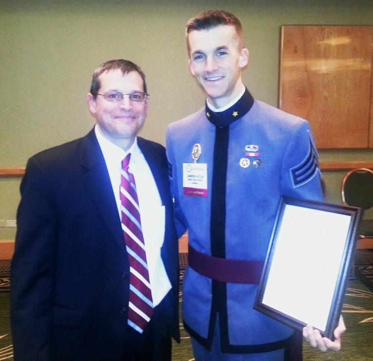 CDT Butler with Mr. Paul Schmall, PE, Chairman of The Moles Education Committee