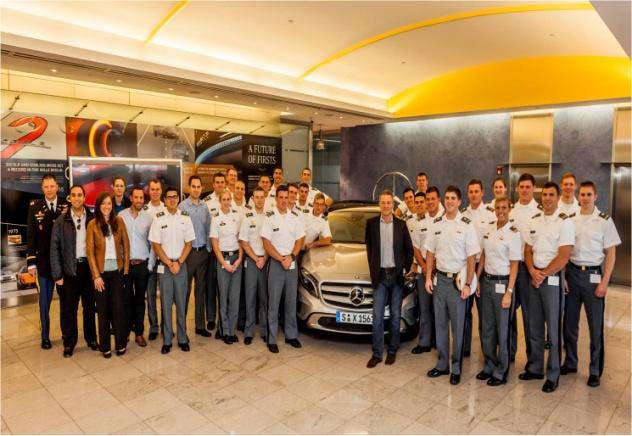 Leadership and Management  Cadets visit Mercedes-Benz