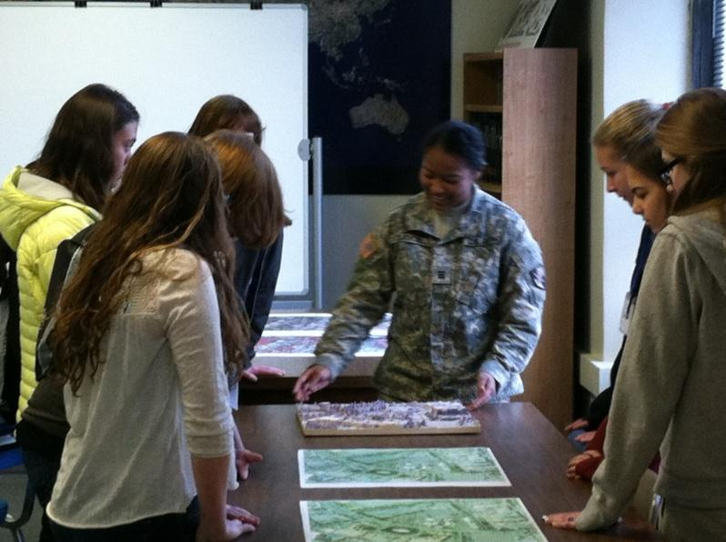 CDT Samuel discusses airborne imagery with STEM participants.