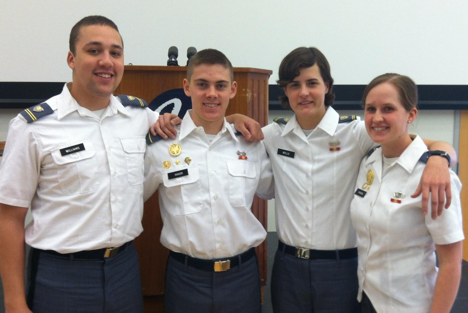 Cadets Matt Williams ('15), Matt Hager ('16), Melissa Wells ('15), and Judy Farrow ('15) recently presented papers at the Ninth Annual Conference on the Teaching of Writing, hosted by the University of Connecticut.