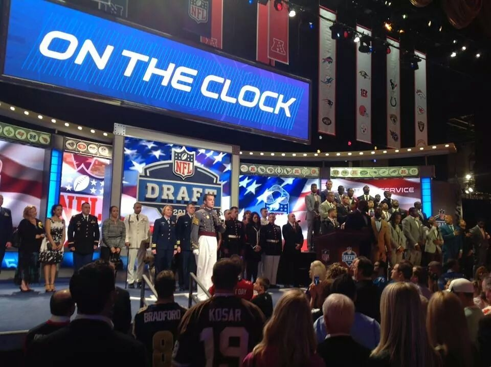 Glee Club opens NFL Draft.