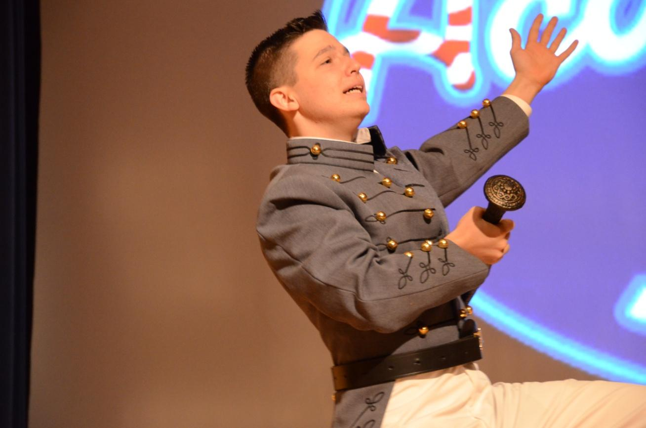 Cadet Micah Petersen ('17, I-1) as Bottom from A Midsummer Night's Dream.