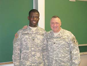 Cadet Agyapong & COL Naessens