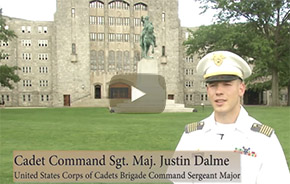 Key Leader Features Cadet Cmd Sgt. Maj. Justin Dalme