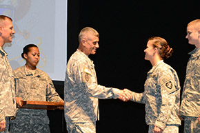 LTG Caslen recognized the academic achievements of cadets in 2015