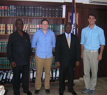 The Liberian Supreme Court Chief Justice and Marshal with CDTs McCracken and Giordano