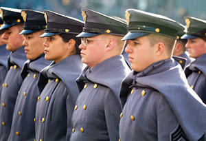 West Point Cadets in Gray Overcoat