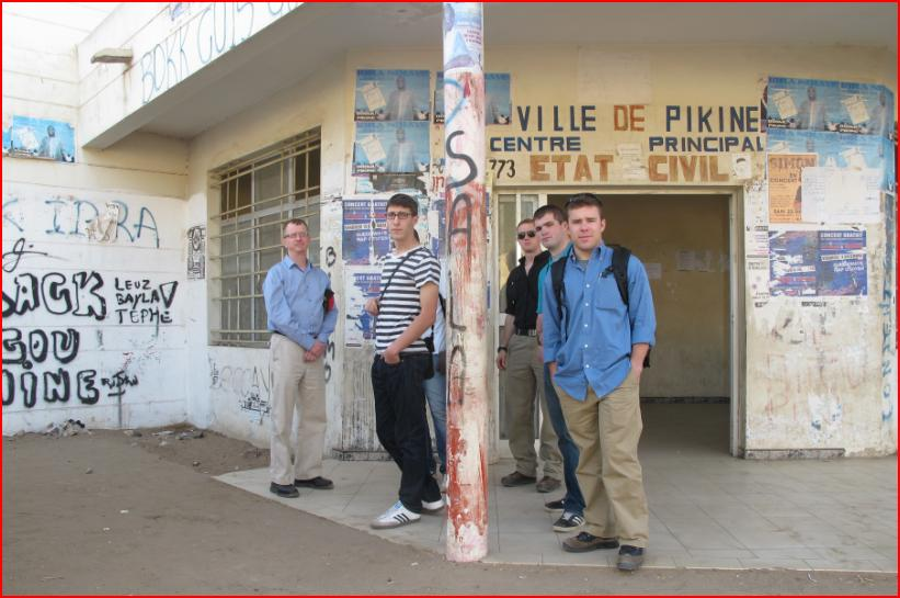 Cadets at the Leopold Senghor Culture Center where local artists convene. The hip-hop culture is a strong source of influence in Pikine.