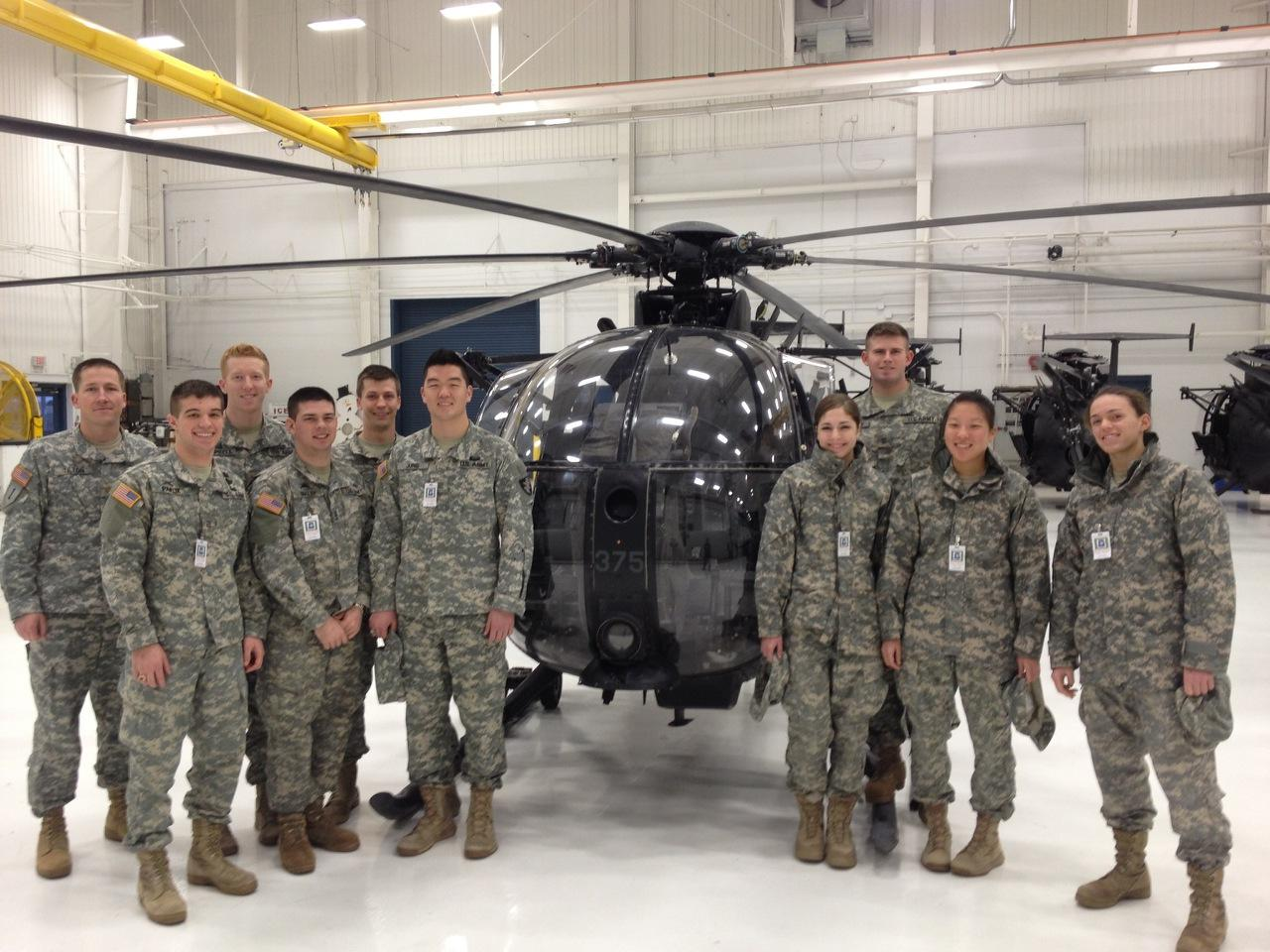 The Department of Systems Engineering sent cadets from both the SE403 year-long capstone and SE450 semester capstone project to Fort Campbell to meet with the 160th Special Operations Aviation Regiment (SOAR).