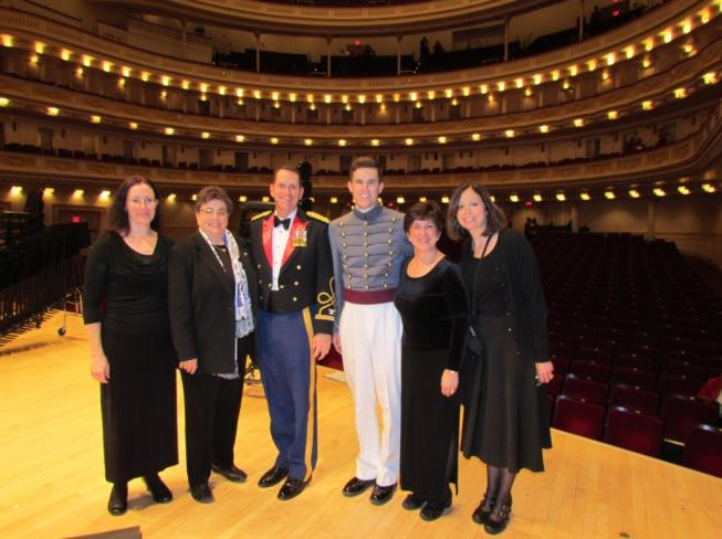 Cadet Dan Trainor at Carnegie Hall
