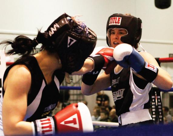 Cadet Victoria Rao '15, Women's Boxing.  Photos by Mike Strasser, Pointer View