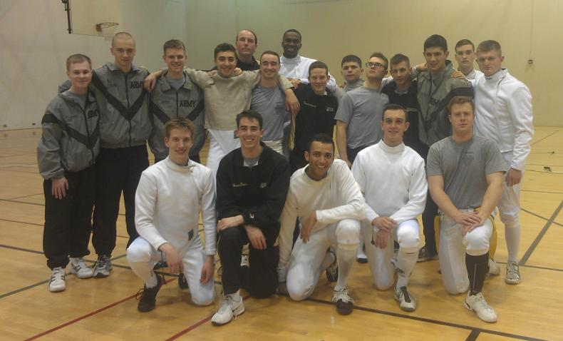 The Men's Fencing Team at MAC Conference host University of Maryland