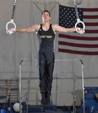 Gymnast Jesse Glenn won the all-around title at the 22nd Annual West Point Open