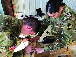 West Point Cadets working on Tech