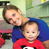 CDT Toth '16 caring for children in Mongolia