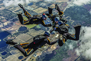 West Point Cadets Parachute team