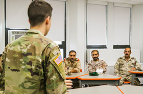 Cadets Connect with Army War College International Fellows