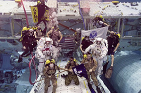 Unique Promotion Ceremony for Astronauts Morgan '98 and McClain '02