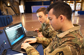 Cadets Participate in Inaugural NSA Cyber Exercise