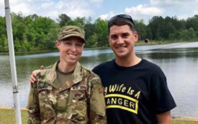 Mallue '09 First Woman to Wear Sapper & Ranger Tabs