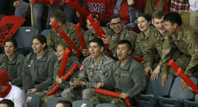 RMC Annual Exchange Cadets in Stands