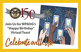 Virtual Toast Celebrating 150th Anniversary of WPAOG