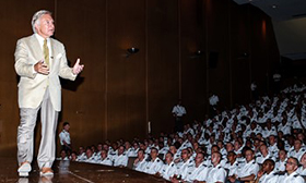 Paul Bucha West Point Class of 1965 speaks to West Point Cadets