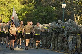 West Point Cadet Run Back March Out