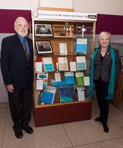Dr. and Mrs. Van Trees have endowed the enrichment program in the EECS department and his books are displayed in the department