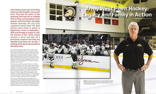 Coach Riley and Army West Point Hockey