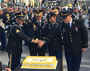West Point Superintendent LTG Caslen Cuts Army Birthday Cake