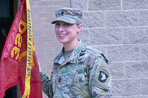 Austen Boroff '14 1st Female Artillery Platoon Leader to Deploy