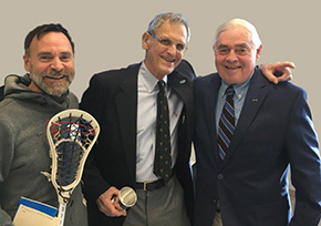 Dick Renfro '54 honored at Bluegrass Lacrosse Officials Winter Meeting 2018