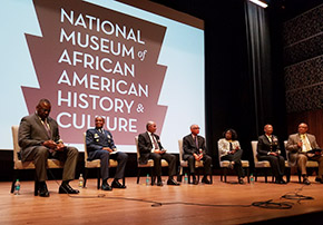General (Retired) Lloyd J. Austin III '75 and author Brian G. Shellum '76 spoke on panels during the first Veterans Day military symposium at the National Museum of African American History and Culture