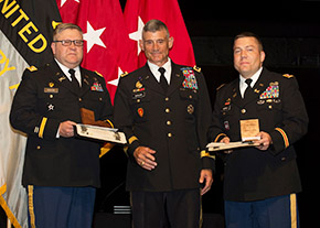 LTC Korpela '96 & LTC Saxon '94 Receive the Apgar Award