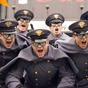 West Point Cadets Yelling at Army Navy Game