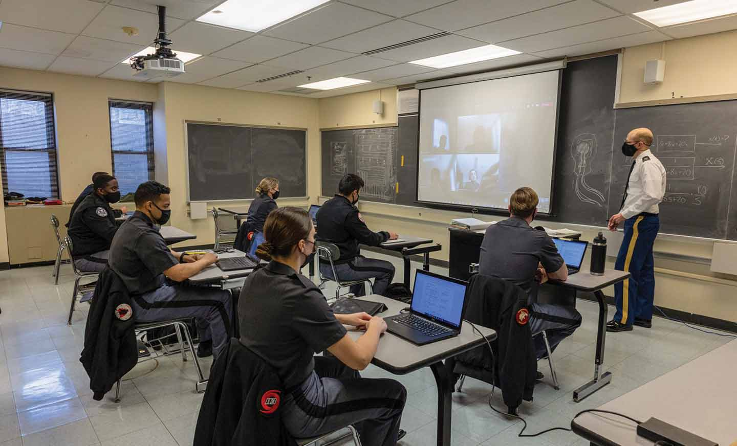 West Point Cadets in Classroom 2021