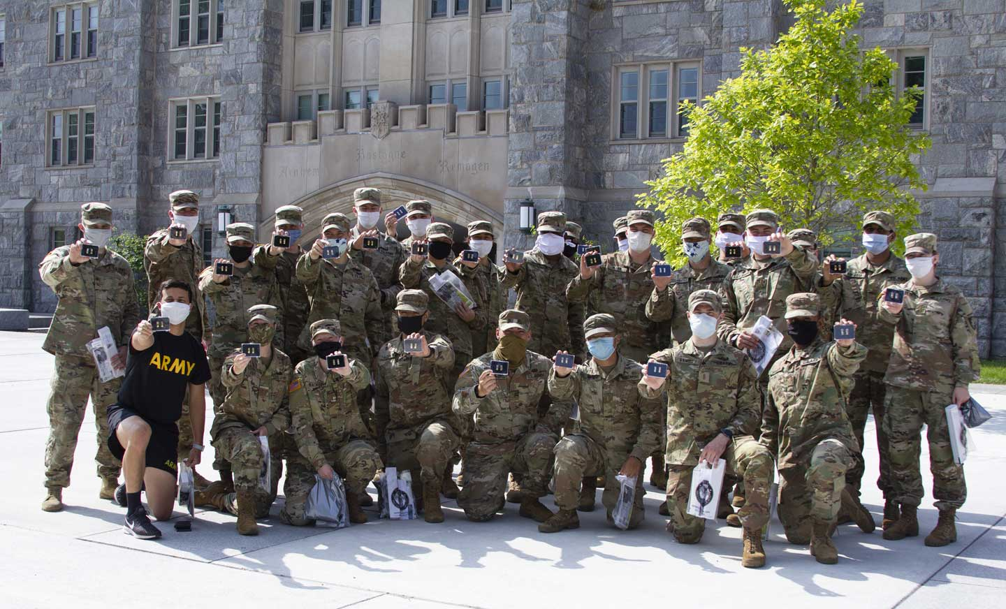 West Point class of 2020 getting 2LT bars