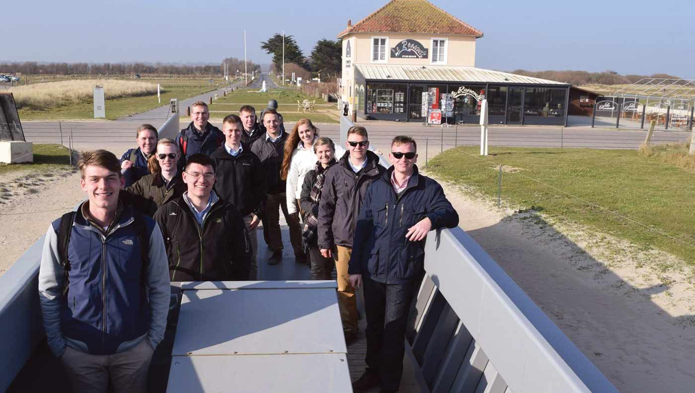 West Point Cadets in Normandy