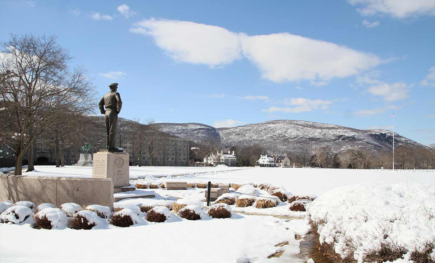 West Point Eisenhower Statue in the Winter