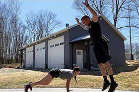 Cadets Challenge Themselves, Each Other Physically at Home