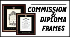 Diploma and commission frames