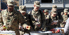 West Point Cadets Getting Treats from WPAOG