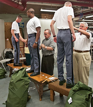West Point Cadets getting fitted