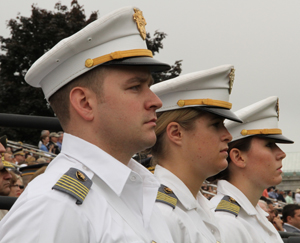 Part of Brigade Staff at the 2012 Graduation Parade