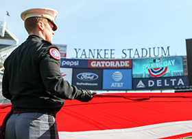 West Point Participates in Opening Day at Yankee Stadium